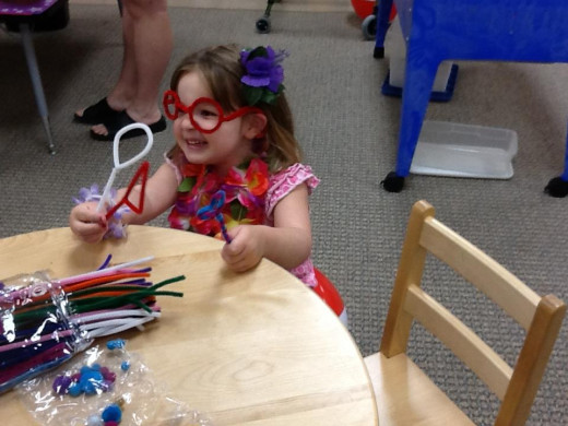 Chloe's end of the year party, completing her first year in early intervention preschool!