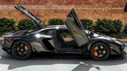 The 2014 model Lamborghini Aventador is not only fast and flashy but luxurious as well.