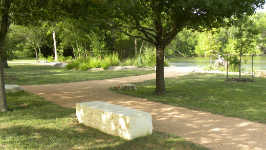 Meditation Park at Mills Pond Austin TX