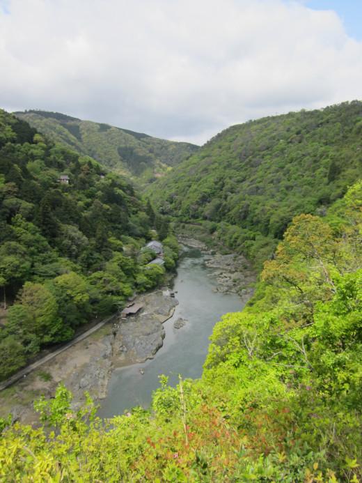 Arashiyama's river