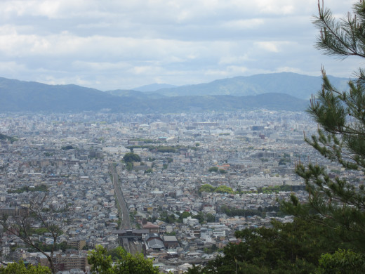 The view of Kyoto from the mountain