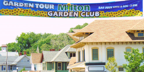 "2014 Milton Garden Club Theme: ""Walk Down Union St."" featured 10 private gardens and 3 homes on Union Street."