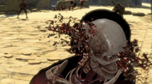 The kill cam has indeed improved in terms of bones snapping and organs bursting, but the blood effects are poor.