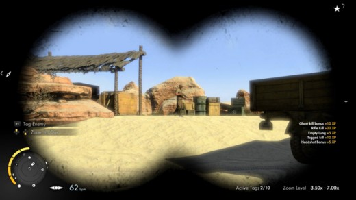 Your binoculars will see equal use to your sniper scope. The game rewards the strategic use of gadgets and devices, as well as your ol' zoomers.