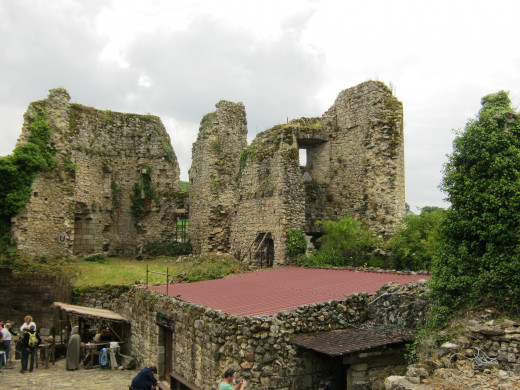 This picture was taken from inside the castle