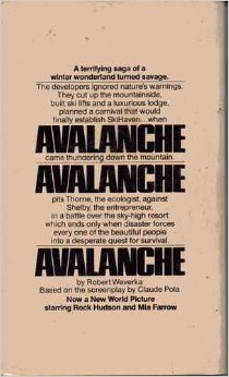 Back cover of the book Avalanche