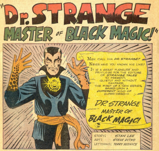 Dr. Strange in Marvel Comics' Strange Tales #110 (July 1963).