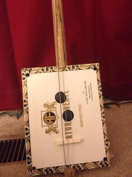 Home made Cigar Box Guitar by John Lowes