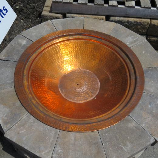 Copper bowl insert.
