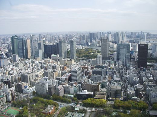 Here you can see many of Tokyo's tall skyscrapers