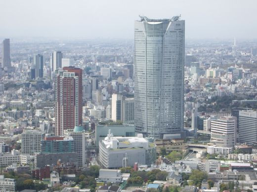 Here we see the Roppongi Hills Mori Tower from the Government Building