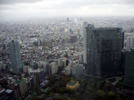 View of Tokyo Japan from the Government Building