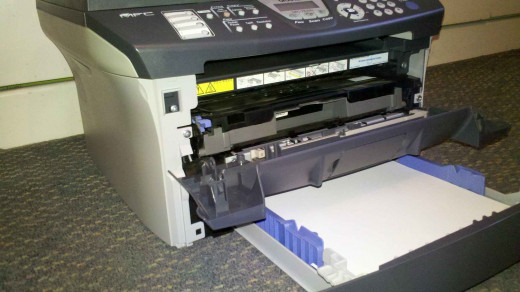 Photo 2 - Removing the toner access lid.