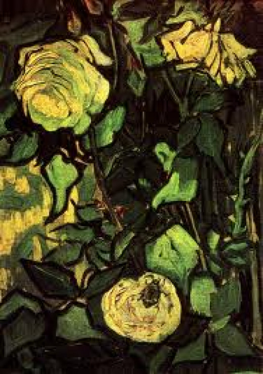 Roses and Beetle - Vincent van Gogh
