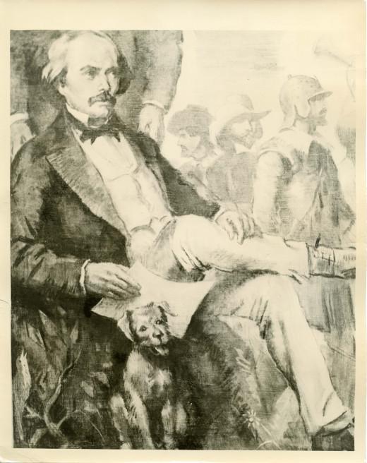 Ralph Boyer, American artist using charcoal