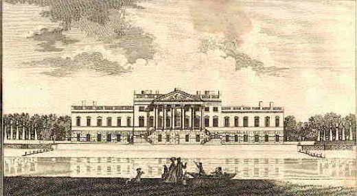 Josiah Child's Wanstead house as completed, 1722 - a few minor alterations were made to the original design by Colen Campbell