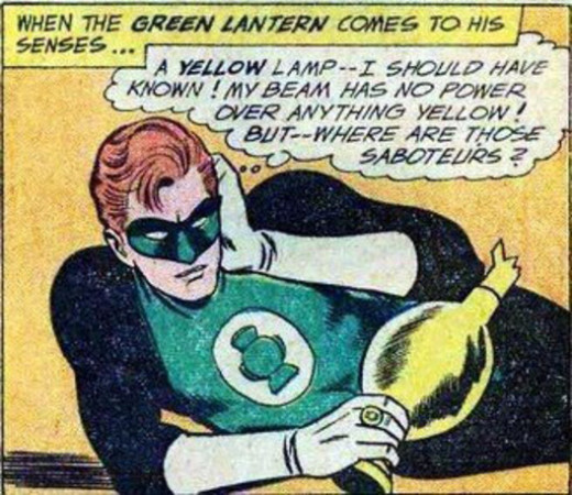 Green Lantern's weakness