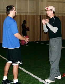 Flacco gets some pointers from Scott Brunner. (nydailynews.com)