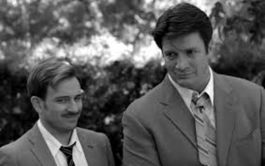 Nathan Fillion (right) in the always funny role of Dogberry.