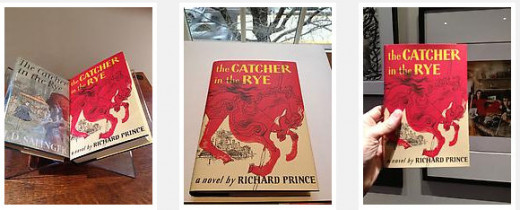 Transformational artist Richard Prince took it upon himself to repackage Catcher In The Rye with a new cover and put his own name on the book. Legal?  Yeah, unfortunately.  I rather see the original author's name on the book, sorry.