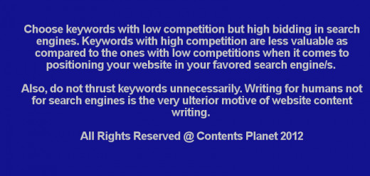 Writing for humans not for search engines is the very ulterior motive of website content writing.