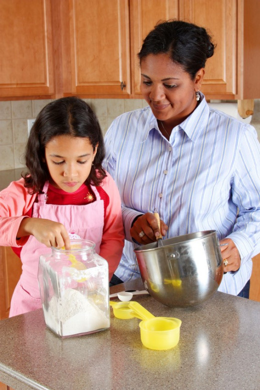 Cooking with your child can be a great learning and bonding experience for you both!
