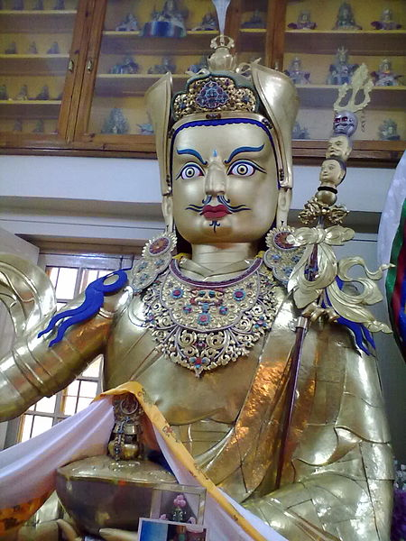 A statue inside Thekchen Choling Complex or Dalai Lama Temple, McLeod ganj, Dharamsala