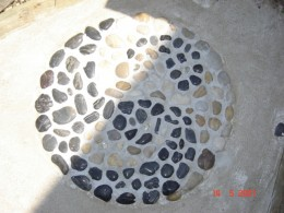 pebble yin and yan mosaic