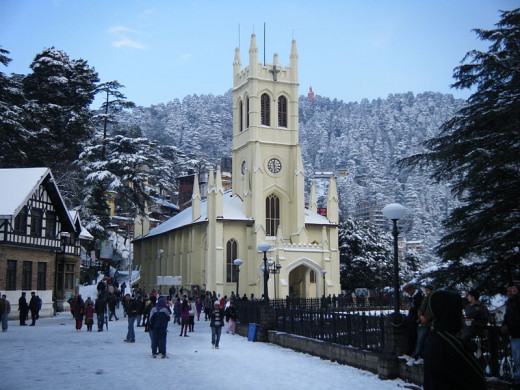 Built in 1850. The St. Michael's Catholic Church, Shimla