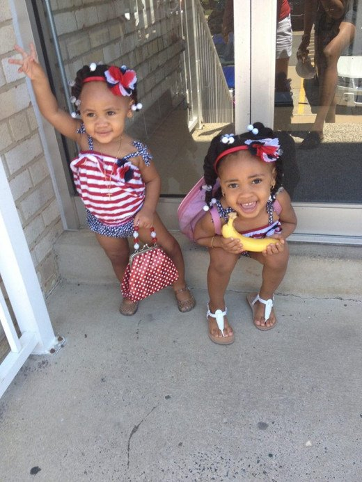 Mia and Selah 4th of July 2014