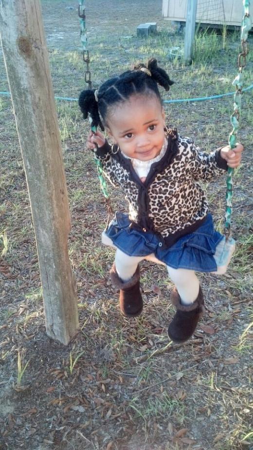 Selah swinging