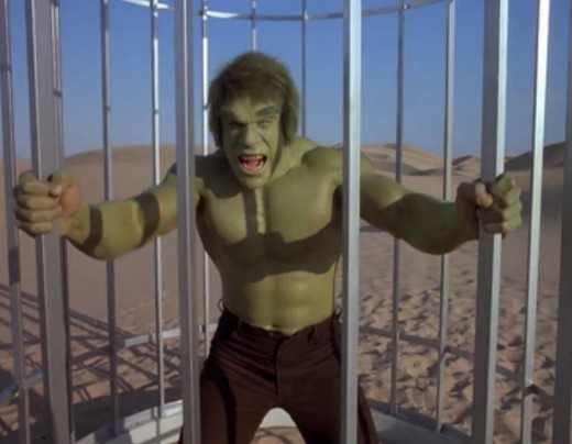 The Hulk won't stay caged for long...
