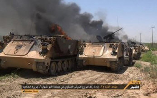 M113's on fire