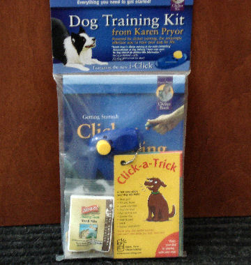 Everything you need to get started is in Karen Pryor's Clicker Training Kit.
