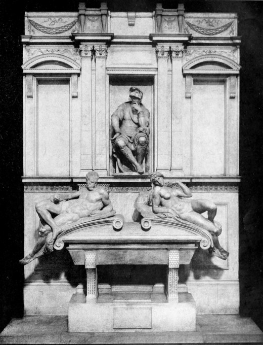 You know you're a rich man when Michelangelo does your tombstone. That guy up above? This is his tombstone.