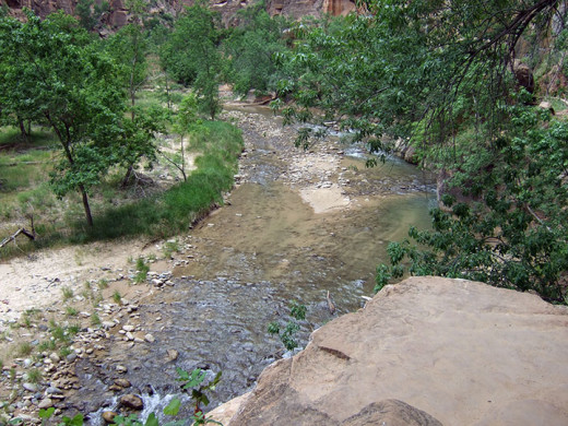 The river running through Zion National Park.