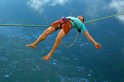Try falling asleep without falling to your death..and that is sport!
