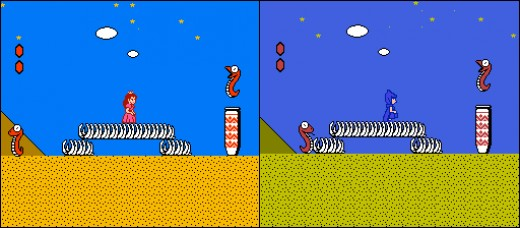 "Mario Bros. 2 Is Really a Game Called ""Doki Doki Panic"" - They Just Swapped Some Sprites and Released it Like This in the U.S."