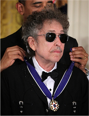 Bob Dylan was awarded the Presidential medal of freedom in 2012 for his extensive views of the human condition.