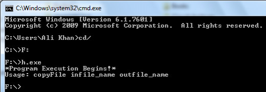 Executing a C++ Program from Command Line.