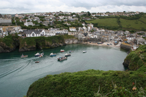 "Lovely Port Isaac, Cornwall, England.  The setting for the fictitious village of Portwenn in the British TV series ""Doc Martin."""