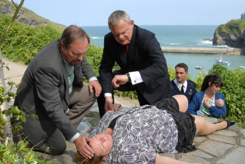 Doc Martin in action dealing with a medical emergency.