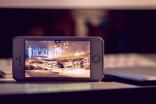 The popular Infinity Blade III game for the iPhone and iPad