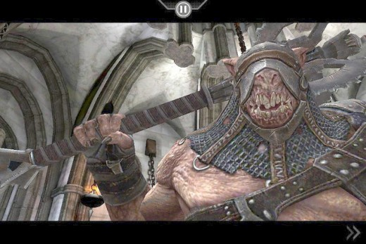 An Infinity Blade enemy demon, ready for combat.