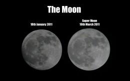 Regular full moon vs supermoon.
