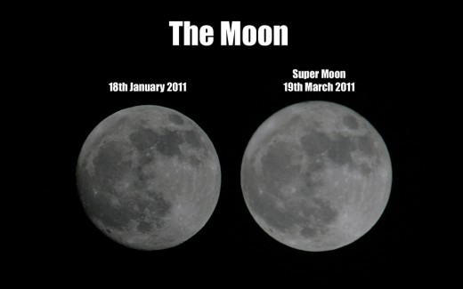Regular full moon vs supermoon.