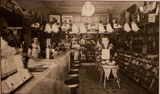 Mary Parks Johnson working at the apothecary in 1930.