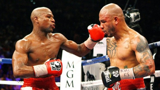 Floyd Mayweather won a hard fought, competitive but clear unanimous decision over Miguel Cotto.
