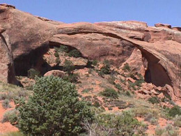 This long arch requires a hike to visit, but it is well worth the hike, even in the summer heat.