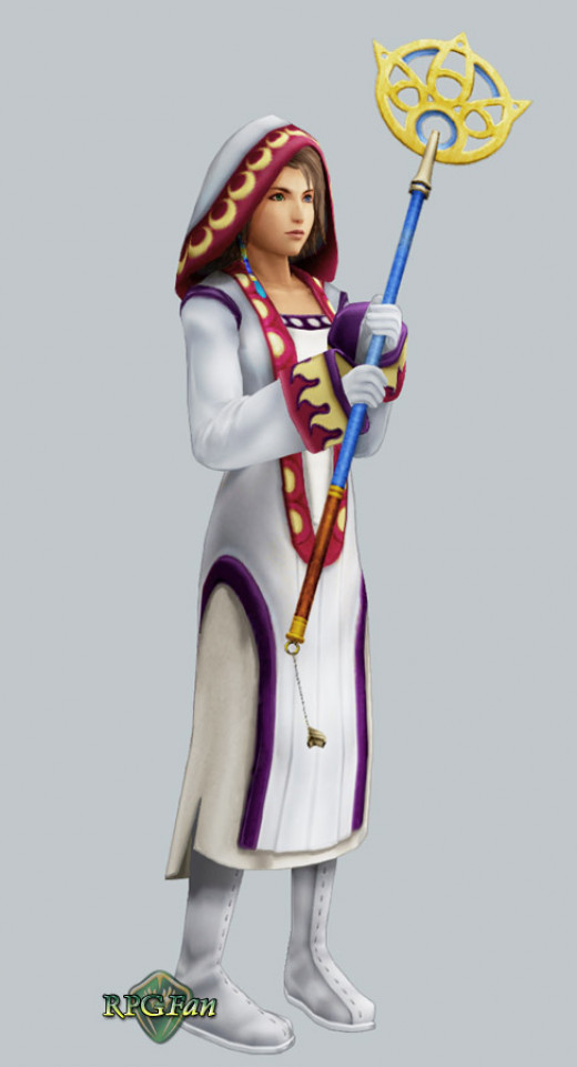 Yuna as a White Mage